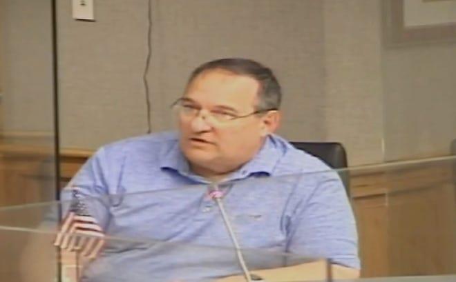 Member Gerald Michel addresses the Terrebonne Parish Council Monday night.