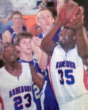 Nigerian national basketball team member Ike Nwamu (23) played for Asheboro in his freshman season of high school basketball in 2006-07. [File photo]
