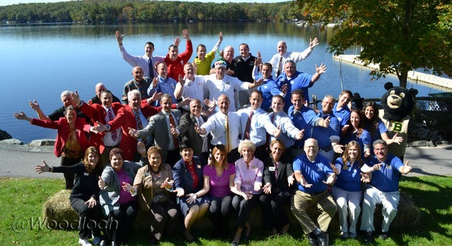 Woodloch Pines, an all-inclusive family resort in Pike County, in the Northern Pocono Mountains, recently recognized their long-time staff. This group shown is only a portion of Woodloch Resort's personnel, which includes 1,091 part and full-time workers. Of that number, 199 have served the company for at least a decade.  / Woodloch photo
