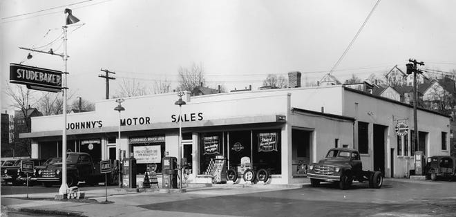Johnny's Motor Sales on Main Street in Gardner, owned by one of the centenarian Kraskouskas brothers.