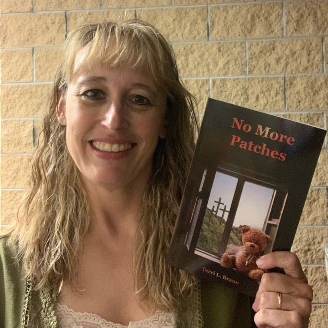 """Hays author Terri Braun recently wrote the book, """"No More Patches,"""" focusing on her spiritual journey after a traumatic brain injury."""