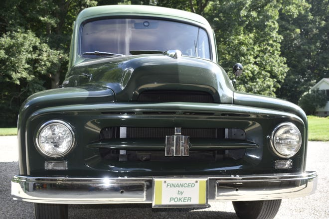 Ken Miller's 1953 International Harvester Travelall is usually parked next to his poker table inside a temperature controlled building.