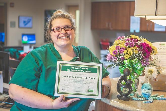 Hannah Bell, a nurse in The Baby Place at AdventHealth Hendersonville, is the recipient of the DAISY Award.