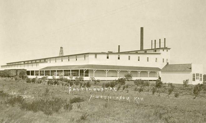 After a fire burned down the original salt plant, the Hutchinson-Kansas Salt Co. began building the current Morton Salt Plant in 1906.