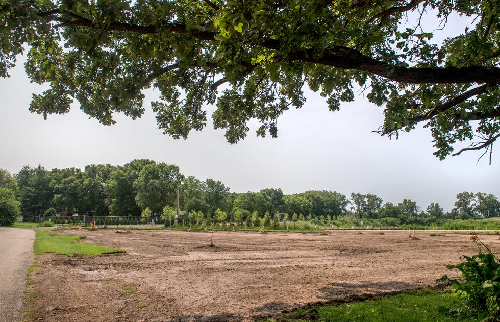 A vacant lot adjacent to Sankoty Lakes Resort and Retreat's Lake Canada is being developed into Sheets Creek Saloon in Spring Bay. Investors Scott Sheets, a Spring Bay resident, and Peoria attorney Joe Gilfillan see the business as a good fit with the Sankoty Lakes campers and the nearby RV park along the lake.