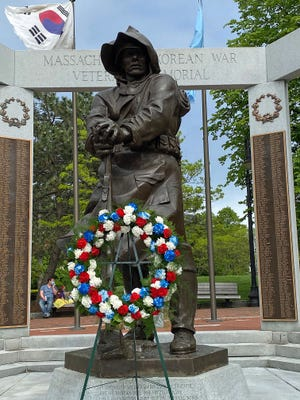 The Massachusetts Korean War Memorial was installed in the Charlestown Naval Shipyard Park in 1993. The memorial was commissioned by the Massachusetts Korean War Veterans Committee. It features a bronze sculpture of a soldier on a granite base.