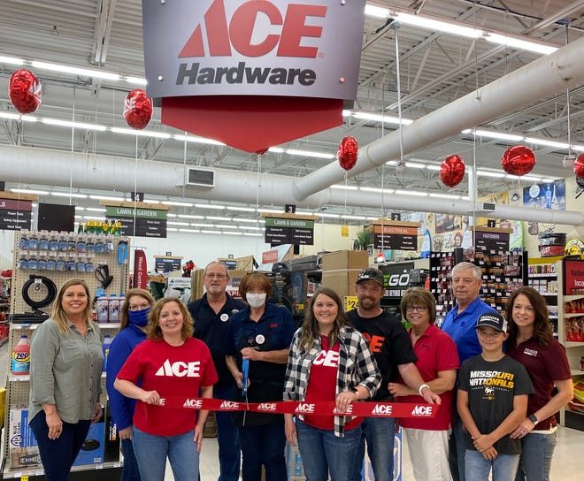 ACE Hardware kicked off the month of June with their official grand opening! Employees present included, Brandie Mattox, Ron Menconi, MaryAnn Ratliff (ACE Manager), Catie Prenger, Rich Prenger, Regina Prenger, Rick Prenger, Gaven Schreiner and Courtney Schreiner. Owned locally by the Prenger Family. Managed by MaryAnn Ratliff. ACE Hardware is the world's largest hardware retail cooperative. Located inside Prenger's Grocery, in Brookfield.