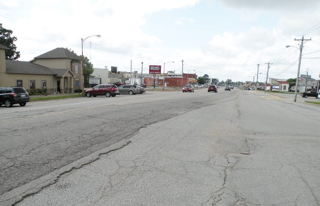 Camdenton has been filling potholes and fixing cracks to prolong the life of Hwy. 5.