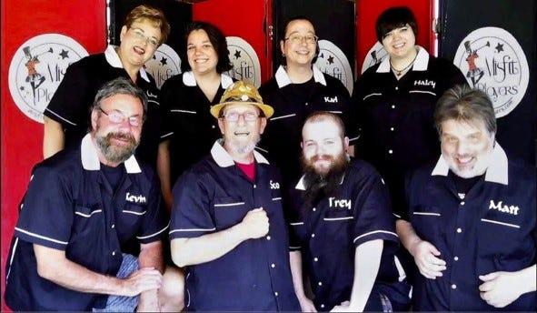 The newly-formed Misfit Players consist of (front, l-r) Kevin Shreve, Scott D. Foard, Trey Piper, Matt Armentrout, (back) Lura Thompson, Mikayla Dodge, Karl Glocker, and Haley Guillot.