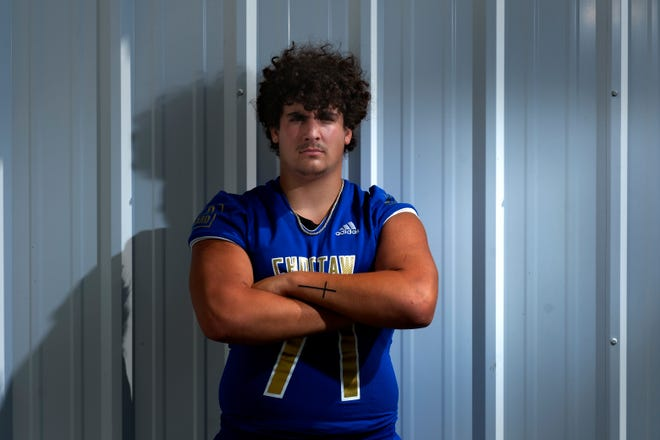 Choctaw offensive lineman Cade McConnell is committed to TCU.