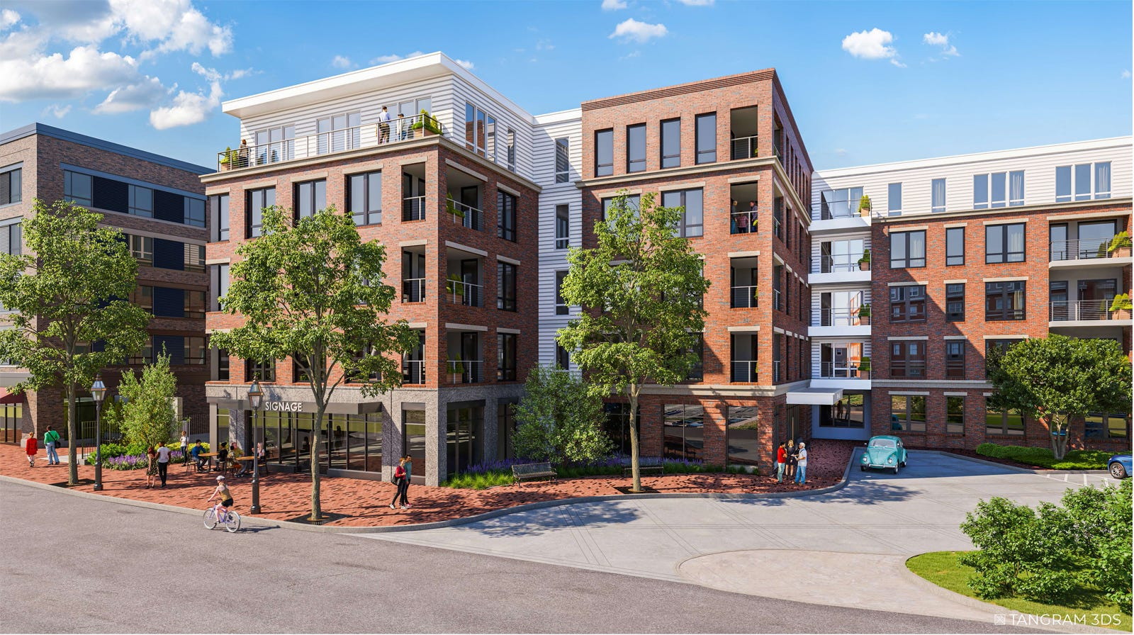 The proposed development at 53 Green St. in Portsmouth.