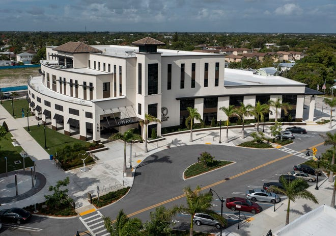 The new Boynton Beach City Hall and Library located in the city's downtown Town Square project in Boynton Beach, Florida on June 8, 2021.