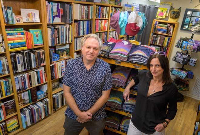 Trevor Smith and Melissa Gibson are the owners of Materialistic Uptown book store on  San Marco Avenue in St. Augustine.