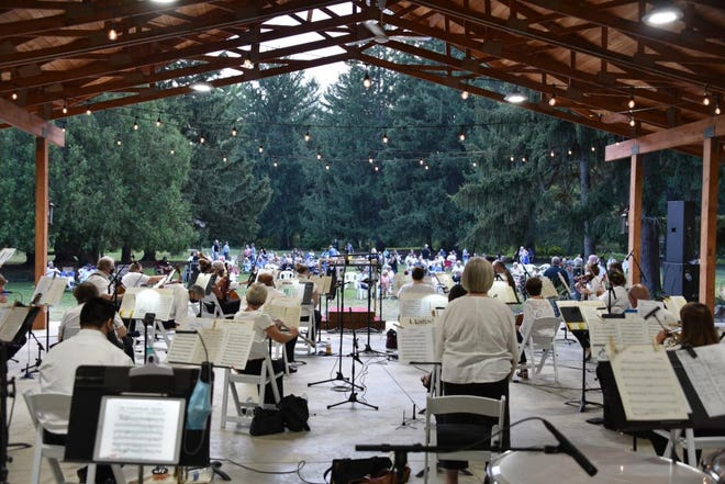 """The LaPorte County Symphony Orchestra performs at Friendship Botanic Gardens on Aug. 23, 2020. The orchestra returns to the venue July 25, 2021, to present """"Legendary Showtunes & More."""""""