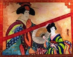 """Madeleine Schooley's """"Karyukai (Geisha)"""" is one of the works that will be included in the exhibit """"Diversity"""" from July through Sept. 30, 2021, at Queen of All Saints Legacy Center in Michigan City."""