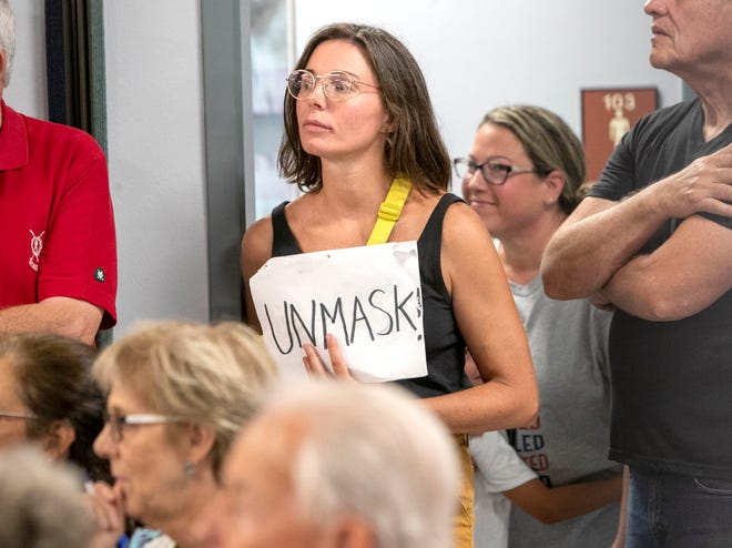 Parents and others turned out for the Sarasota County School Board meeting July 13 to express their feelings for and against teaching critical race theory and wearing masks in schools.