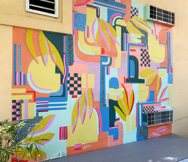 Outdoor mural on St. Simons Island by Juliana Lupacchino.