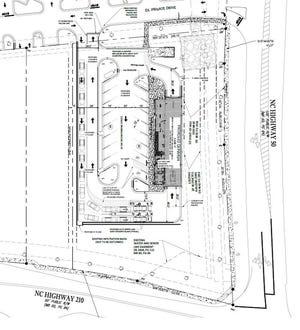 Site plans for a carwash development Arboretum at Surf City