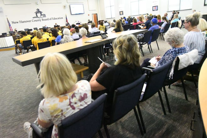 The New Hanover County School Board meets Tuesday July 13, 2021, in Wilmington, N.C.