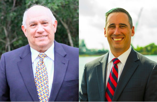 Democratic U.S. Congress candidates Steve Miller, left, and Jason Minnicozzi, right, will go head-to-head to challenge Rep. David Rouzer in the 2022 race.