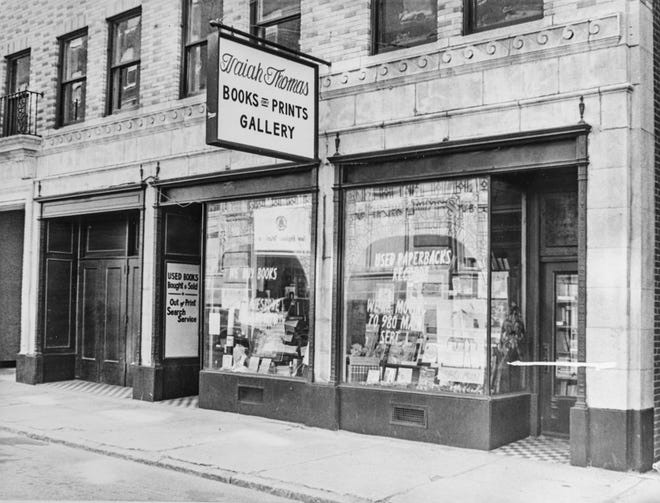 Isaiah Thomas Books and Prints at 10 Portland St. in Worcester, shown in August 1974.