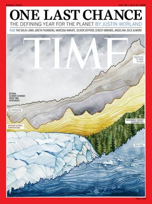The cover of Time's climate issue in July 2020.