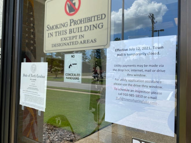 Spring Lake's Town Hall has been closed to the public since July 12.