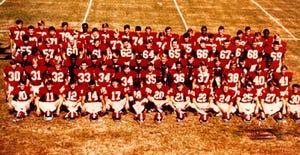 The 1971 Livingston University (now the University of West Alabama) football team won the NAIA national championship. (Photo by UWA).