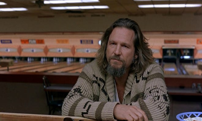 """""""The Dude,"""" played by Jeff Bridges in the 1988 film """"The Big Lebowski,"""" was dismayed at trouble with his rug."""