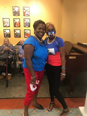 Goddard House, 165 Chestnut St., Brookline, celebrated Caribbean-American Heritage Month in June. Pictured are Resident Care Director-News Johane Marcellus and Programming Assistant Marie Jeanty.