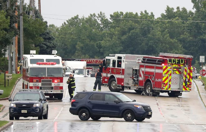 Residents near the intersection of Holland Road and County OO were evacuated from their homes late Wednesday afternoon because of a gas leak.