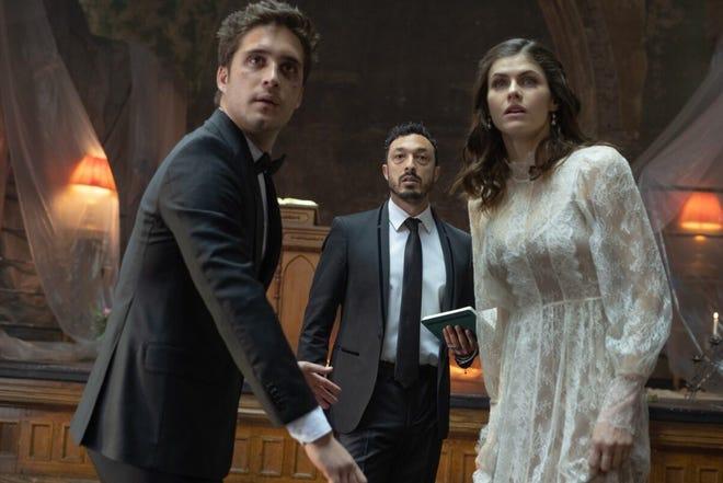 "Diego Boneta, Wade Allain-Marcus and Alexandra Daddario in ""Die in a Gunfight."""