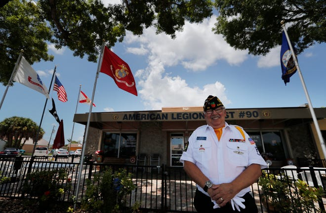 Navy veteran and Cape Coral resident Ted Clark is the public relations officer for the American Legion Post 90 in Cape Coral. He is photographed on Friday, July 9, 2021.