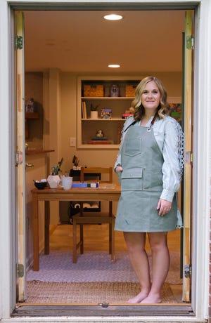 Greenville-based artist Jamie Dawson at her home studio.