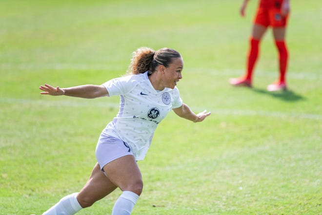Racing Louisville's Ebony Salmon a goal-scorer, 2024 Olympic hopeful