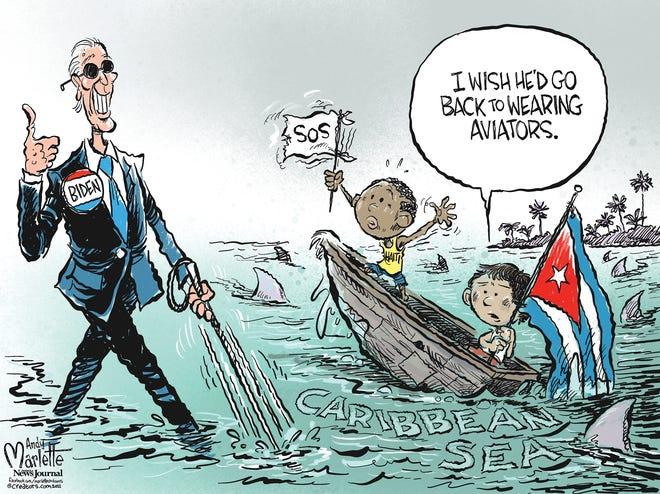 Marlette cartoon: Biden wearing blinder for troubles in the Caribbean?
