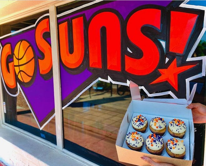 Urban Cookies Bakeshop in Phoenix is offering Suns churro cupcakes for a limited time during the NBA finals.