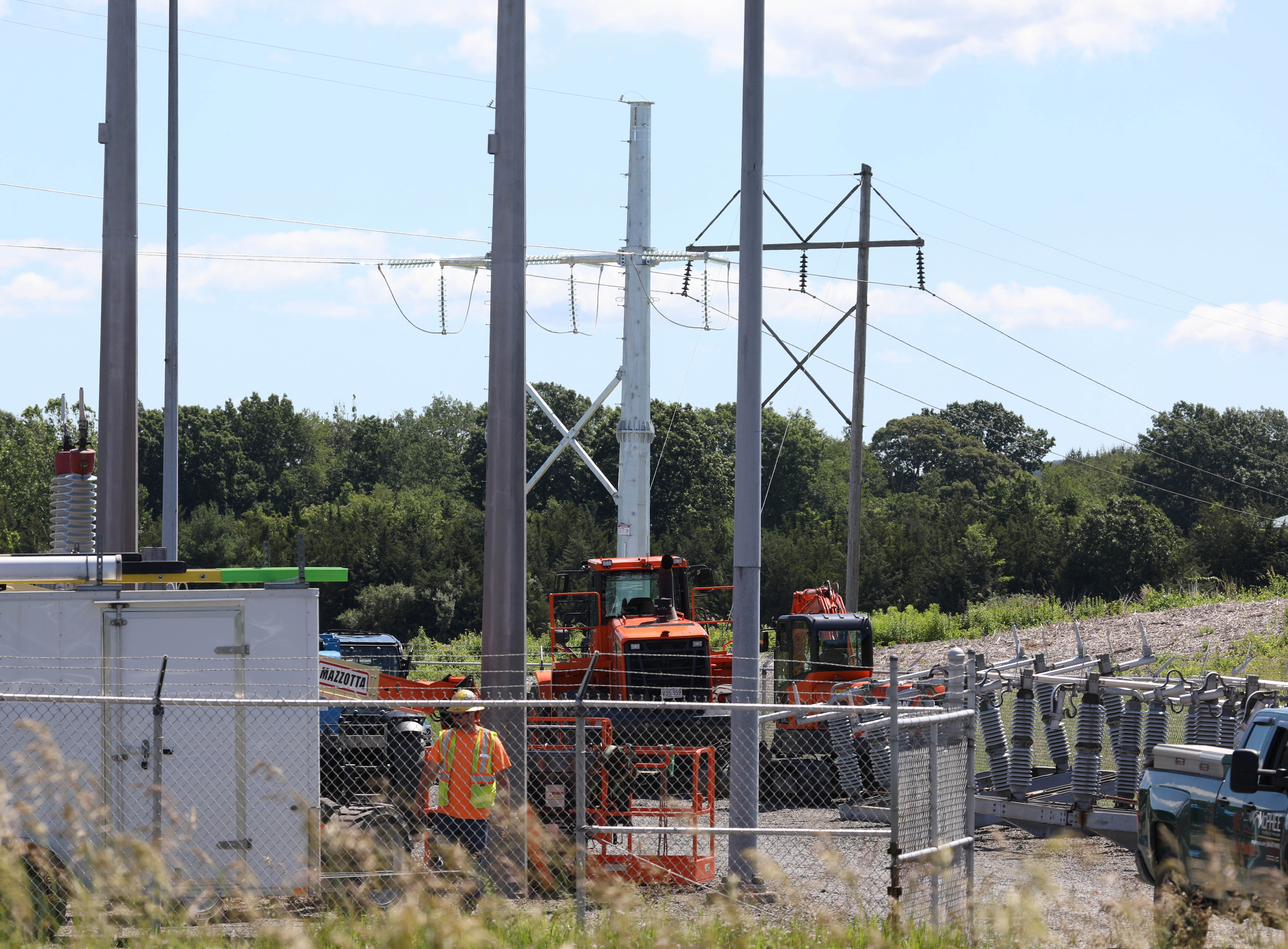 The Churchtown switching station in Claverack being modernized by a crew from New York Transco on June 24, 2021.