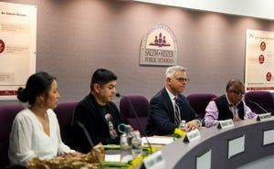 New school board members are sworn in on Tuesday, July 13, 2021 at the Salem-Keizer School Board meeting in Salem.
