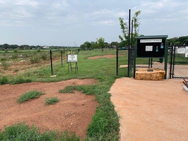 Dog park gate theft.