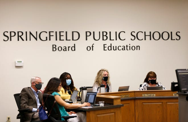 The Springfield school board met Tuesday for the first time since new superintendent Grenita Lathan officially started work July 1.