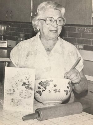 """Bess Hoffman poses for a photo that ran in her book of cookie recipes, """"Cookies By Bess."""""""