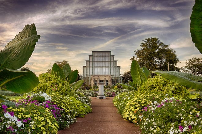 The Jewel Box Greenhouse at St. Louis' Forest Park drew national attention when it opened in 1936.