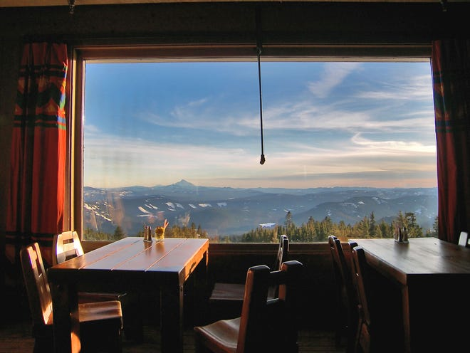 Perched 6,000 feet above Mount Hood National Forest, Timberline Lodge offers breathtaking views and stands as a testament to the New Deal's contributions to the American landscape.