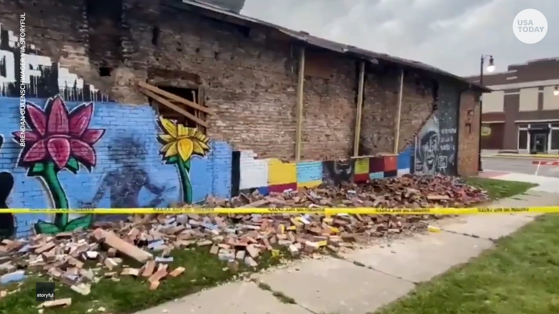 Ohio mural in honor of George Floyd collapses just year after completion