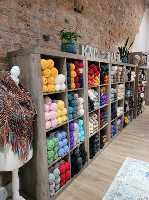 Rochelle Nickolay's business, The Knittery Nook & Fibre Co., has a new, larger space in downtown Ames.