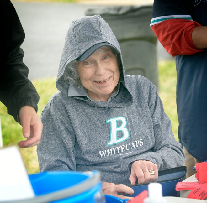 Claire Gradone at recent Brewster home game.