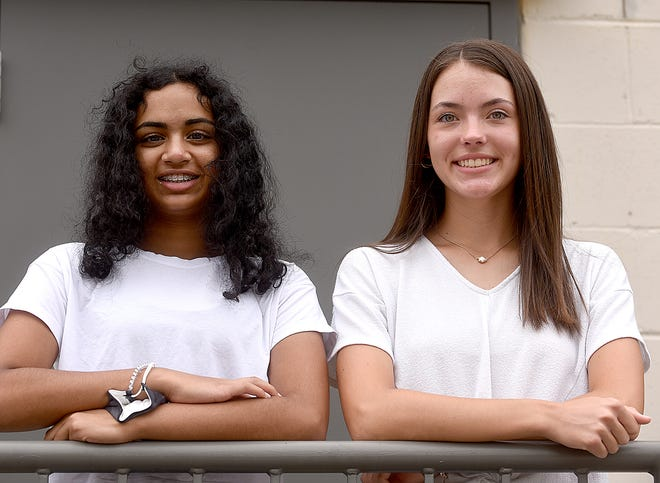 Rock Bridge High School students Sriya Pokala, 15, left, and Kinley Schade, 16, have created a not-for-profit called Difference One Step at a Time to raise money for young people with disabilities to participate in adaptive sports programs.