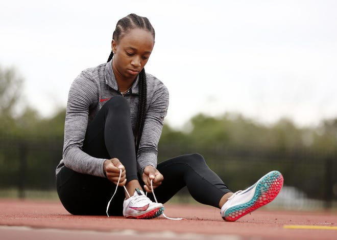 Ohio State sprinter Anavia Battle qualified for Tokyo by placing third at the Olympic Trials in 21.95 seconds, the first time in history a women's collegiate runner has broken 22.0.