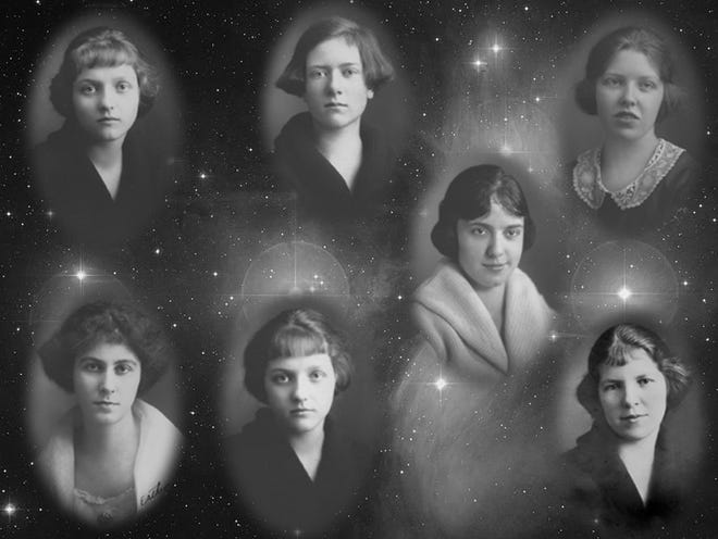 """Seven best friends from the Grandview Heights High School class of 1922 called themselves the """"Pleiades,"""" a reference to a cluster of seven stars in the firmament named for seven mythological sisters."""